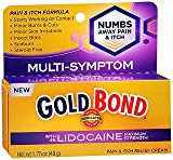 Gold Bond Medicated Pain & Itch Relief Cream with Lidocaine Maximum Strength - 1.75 oz, Pack of 3