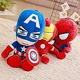 yuanchuang Peluche 3 Piezas Anime Suave Relleno Capitán América Iron Man Spiderman Peluches Película Muñecas para Niños Regalo De Cumpleaños