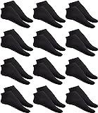 DaMaro 10 er Pack Basic Sneaker Socken für Herren, 35-46 Schwarz Sportsock en, Laufsocken Knöchelhoch, Söckchen (35-38)