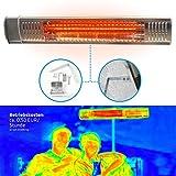 Gardigo Chauffage Infrarouge d'Extérieure 2000 W Chauffage Radiant à Rayonnement Infrarouge; pour Terrasse Restaurants Balcon Jardin Vérandas Tube Infrarouge en Or IP 65