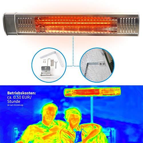 Gardigo - Estufa Lampara para Exterior; Calefactor Eléctrico Radiante por Rayos Infrarrojos...