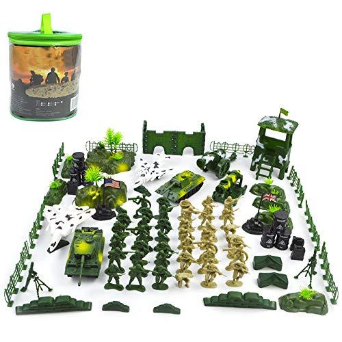 Plastic Militair Model Speelgoed Statische Decoratie Militaire Pak DIY Gemonteerd Model Militaire Karakter Accessoires Jongen Kinderen Speelgoed Leger 90 PCS