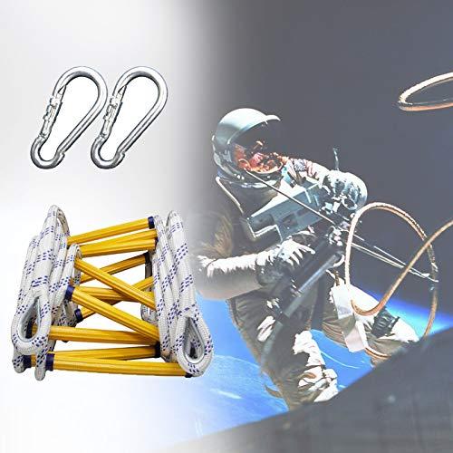 GAOWF Escalera de Cuerda de Fuego, Escaleras de Escape de Emergencia, Cojinete 420 kg, con 2 Ganchos, Fácil de Instalar y Reutilizable, para Gimnasio y Selva (Size : 5m)