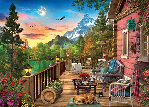 Ceaco Weekend Retreat Collection Mountain View Jigsaw Puzzle, 1000 Pieces