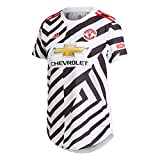 adidas Manchester United Temporada 2020/21 MUFC 3 JSY W Camiseta Tercera equipación, Mujer, Blanco/Negro, XS
