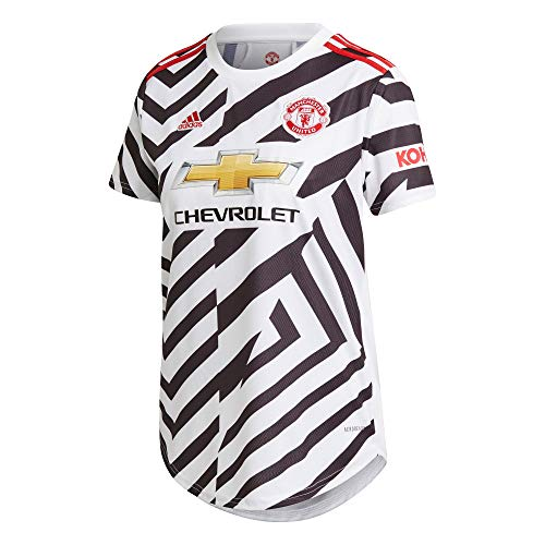 adidas Manchester United Temporada 2020/21 MUFC 3 JSY W Camiseta Tercera equipación, Mujer, Blanco/Negro, M