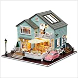 GUHUA Bausatz DIY Holz Modell Häuser Set,DIY Puppenhaus Miniatur Puppenhaus Kits,DIY Holz Mini...