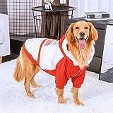 WANGSHI Golden Retriever Clothes Dog Labrador Disfraz De Perro Pastor Multilateral [Transparente] Costuras de algodón 4XL- Busto 74-79cm (Recomendado 26-40 kg)