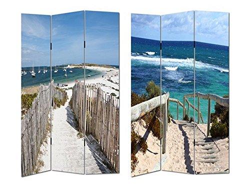 HTI-Line Paravent Beach 1 Sichtschutz Spanische Wand Raumteiler Neu OVP