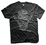 Westworld Oficialmente Licenciado Circuit Face Camiseta para Hombre (Negro), X-Large