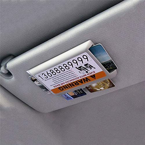 CNSD Tarjeta Parasol del Coche del Coche del Clip Adornos Carretera Tarjeta IC Caja de Almacenamiento Temporal Aparcamiento Marca Auto Accesorios Interior (Color Name : Gray)