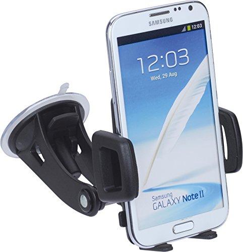 hr-imotion Universelle Kompakte Halterungslösung für alle Phablets & Smartphones zwischen 58mm & 85mm Breite [5 Jahre Garantie | Made in Germany | 360 Grad drehbar | vibrationsfrei] - 22010201