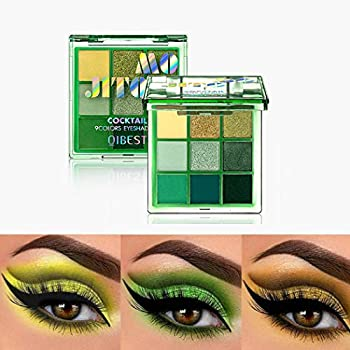 Eyret Eyeshadows Palette 9 Colors Glitter and Matte High Pigmented Eyeshadow Green Eye Beauty Make up Cosmetics for Women and Girls
