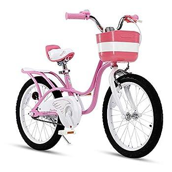 RoyalBaby Girl s Bike Little Swan 18 Inch Kids Bike with Kickstand Basket Girls Child s Bicycle Pink