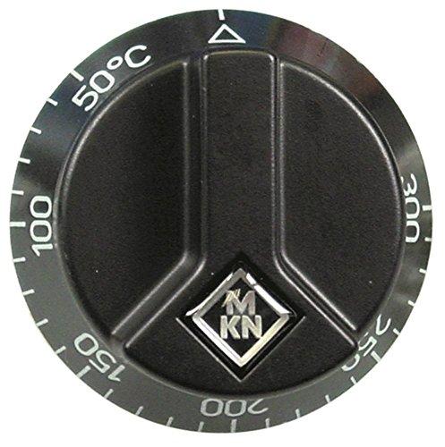 MKN Knebel für Grillplatte 2121104 50-300°C Drehwinkel 270° für Thermostat schwarz für Achse ø 6x4,6mm mit Abflachung oben ø 65mm