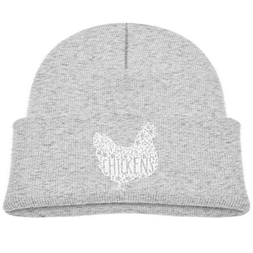 Voxpkrs Life is Better with Chickens Around Baby Infant Toddler Winter Warm Beanies Hat Cute Children's Thick Stretchy Cap Cool 33617