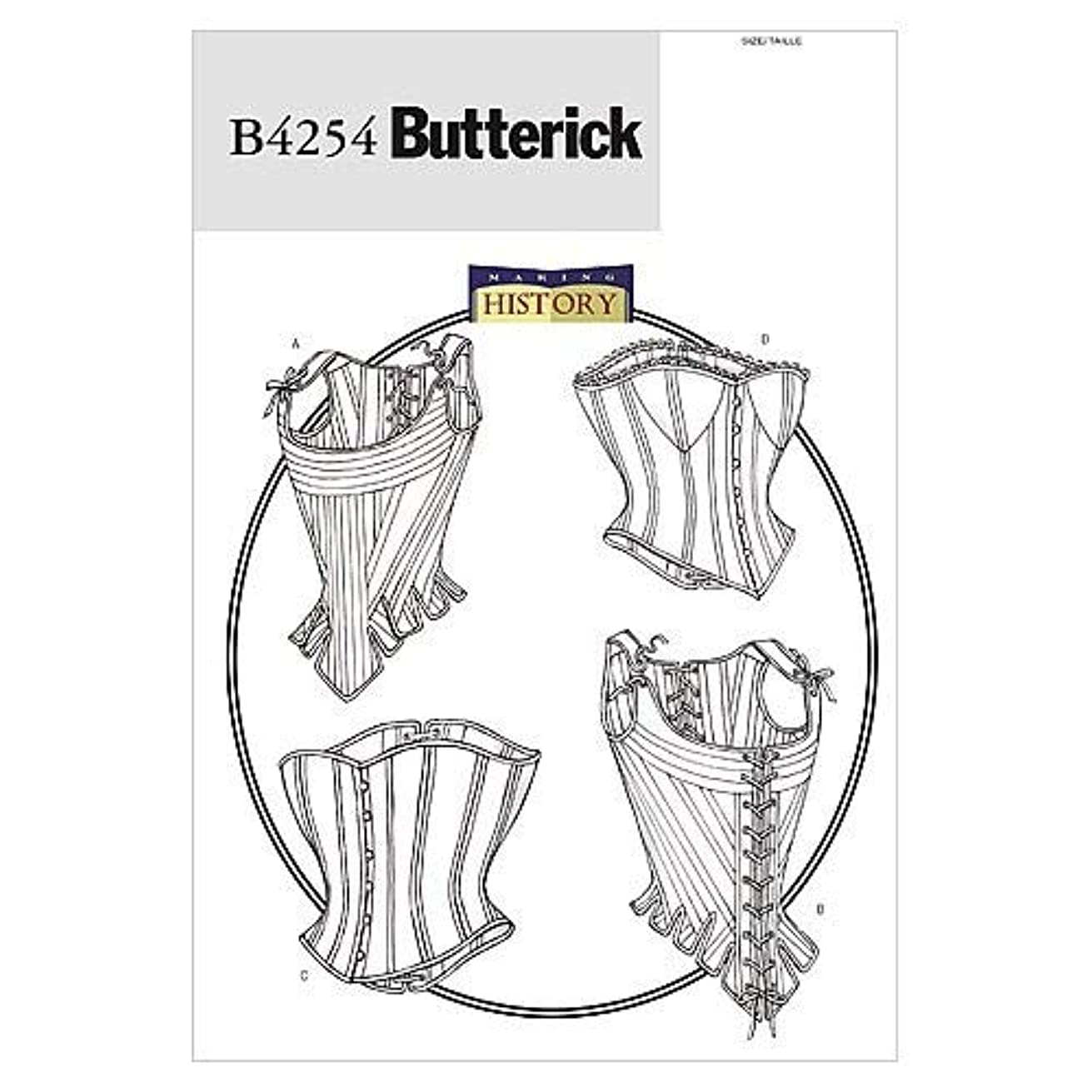BUTTERICK PATTERNS B4254 Misses' Stays and Corsets, Size 6-8-10