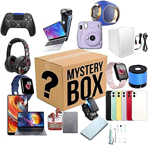 GDICONIC Caja misteriosa Caja de Misterio,Caja de Misterio electrónica,Cajas de Misterio Aleatorio,Caja de Sorpresa de cumpleaños,Caja de Suerte para Adultos Sorpresa Regalo,Estilo Aleatorio