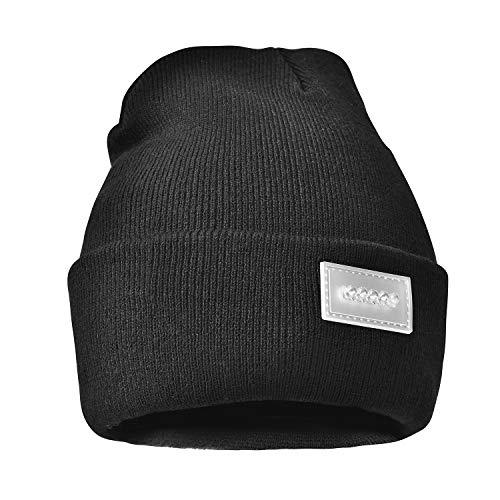 PRAVETTE Unisex LED Beanie Hat, Ultra-Bright Lighted Replaceable Battery...