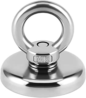 MHDMAG High Power Fishing Magnet, Large Magnet Fishing Kit, Super Powerful Magnet with Rare Earth Neodymium for River, Magnetic Fishing, Indoor, Outdoor, Diameter (SNJ48L)
