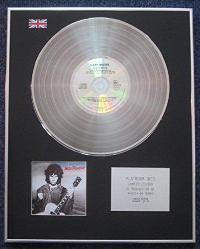 Gary Moore - Disco de disco de disco de disco de platino de edición limitada, diseño de Wild Frontier