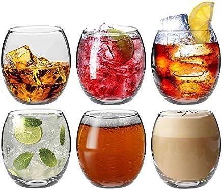 Argon Tableware Tondo Water/Whisky/Juice Tumbler Glasses - Gift Box of 6 Glasses - 405ml (14oz)