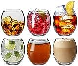 Argon Tableware Tondo - Gläser für Wasser/Whisky/Saft - 6 Gläser mit Geschenkverpackung - 405 ml