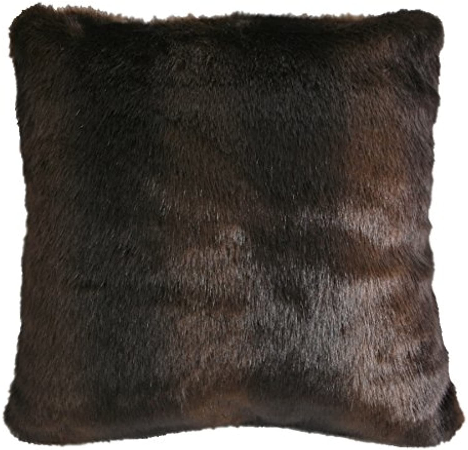 Carstens Brown Bear Faux Fur Pillow