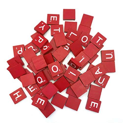 100 Teile/Satz Englische Wörter Scrabble Holz Buchstaben Farbe Alphabet Fliesen Handwerk