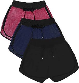 Kit 3 Shorts Feminino Básico Moletom Super Leve