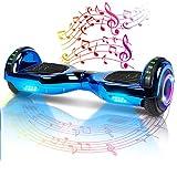Hoverboard-Hoverboard Per Bambini, Hoverboard Autobilanciato A Due Ruote Da 6,5 Pollici, Con Bluetooth E Luci Lampeggianti A LED, Adatto A Bambini Di Età Compresa Tra 6 E 12 Anni (Blue)