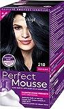 Schwarzkopf - Perfect Mousse - Coloration Mousse Permanente sans Ammoniaque - Noir Glace 210