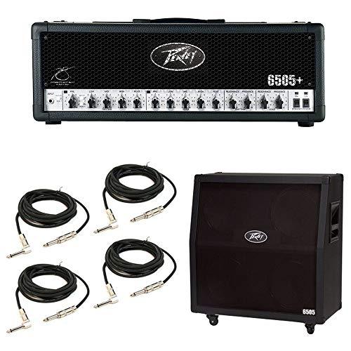 Peavey 6505 412 Slant Cabinet & 6505 + Plus Amp Head Guitar Package w/Cables