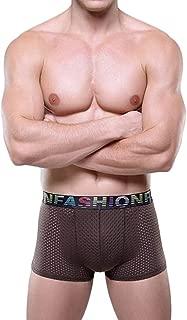 QIYUN.Z Mens Hollow Breathable Ice Silk Boxer Briefs