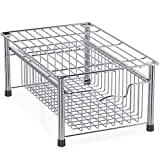 Simple Houseware Stackable Basket Drawer, Chrome