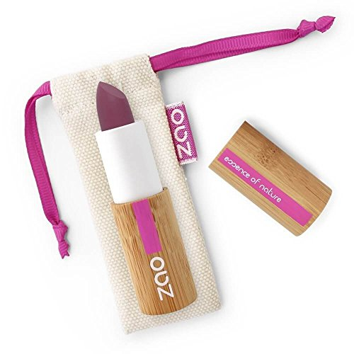 Zao Soft Touch Lipstick 437Berenjena Lila Mate Lippenstift rellenable (bio, Vegan) 101437