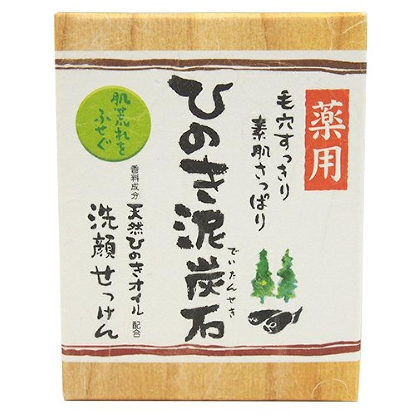 退化するトリップルネッサンス東京宝 薬用ひのき泥炭石 すっきり黒タイプ 洗顔石鹸 75g