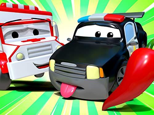 【Halloween ! 】Matt das Polizeiauto hat sich die Lippen verbrannt! / Der Kran hat unreife Erdbeeren gegessen! / Henry der alte Käfer