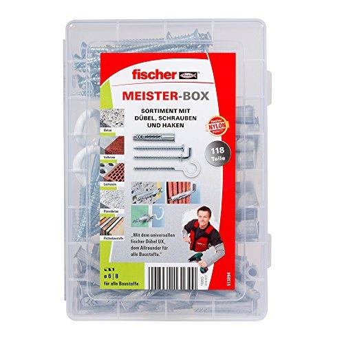 Fischer Meister-Box UX-Dübel, Schrauben und Haken