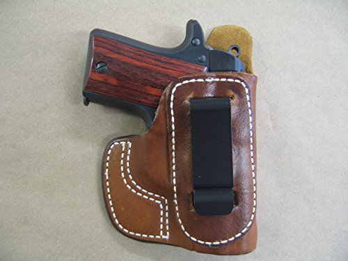 Azula IWB Molded Leather Inside Waistband Conceal Carry Holster for Kimber Micro 380 TAN RH