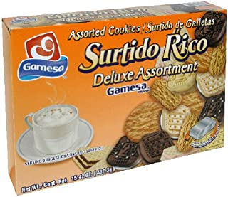 Gamesa Surtido Rico Assorted Cookies, 15.43-Ounce (Pack of 12)