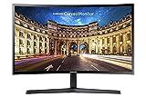 Samsung Monitor C27F396 Curvo da 27', Pannello VA, Full HD 1,920 x 1,080 pixel, 4 ms, Freesync, 1 HDMI port, 1 D-Sub port, Game Mode, Flicker Free, Eye Saver Mode, Nero, Versione 2021