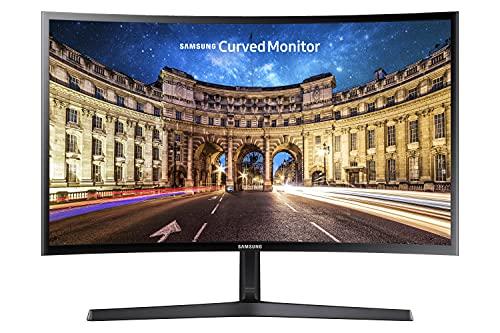 """Samsung Monitor C27F396 Curvo da 27"""", Pannello VA, Full HD 1,920 x 1,080 pixel, 4 ms, Freesync, 1 HDMI port, 1 D-Sub port, Game Mode, Flicker Free, Eye Saver Mode, Nero, Versione 2021"""