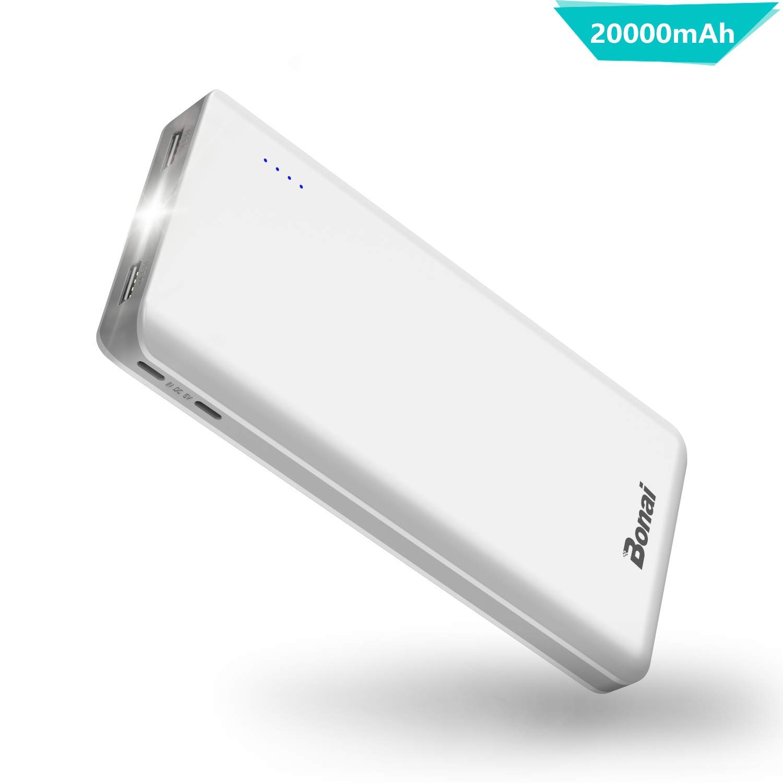 BONAI Power Bank 20000mAh Bateria Externa Movil 2 Mirco Entradas y ...