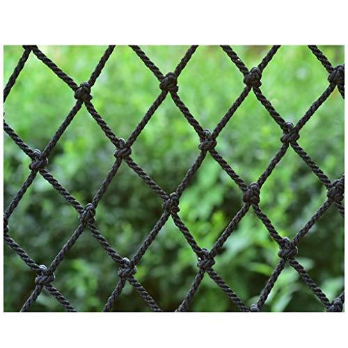 Red de Seguridad Barandilla Protección de Balcón Red De Cuerdas De Nylon Negro, Red De Cuerda Decorativa Balcón Red De Seguridad Barrera De Red Escaleras Anti-caída Jardín De Infantes Patio De Recreo