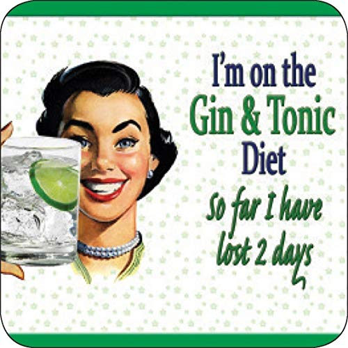 Nice-T I'm On The Gin And Tonic Diet. funny melamine drinks mat/coaster