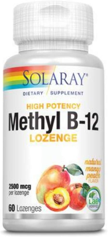 Solaray B 12 Virginia Beach Mall Soldering Methyl Lozenge 60 Supplement 2500mcg Count