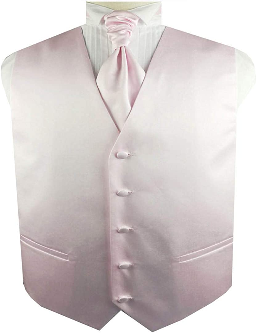 Men's Solid Plain Dress Waistcoat Set for Wedding