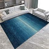 Alfombras Alfombra Pasillo Alfombra Lavable con diseño Degradado Azul grisáceo fácil de Limpiar alfombras niños Sofa Salon 120*170CM