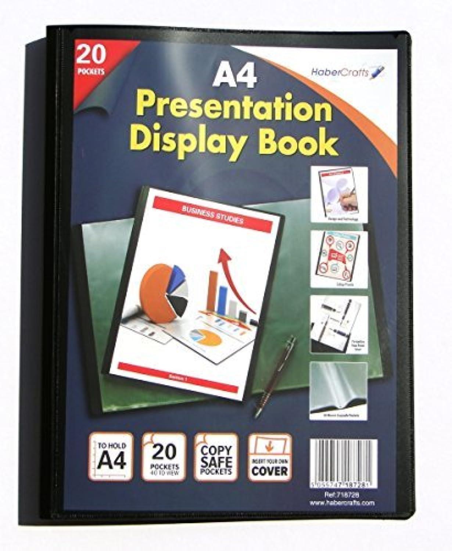 Sichtbuch, A4, 20 Taschen Taschen Taschen (40 Views)-Sichtbuch, Präsentations-Ordner mit 24 Pack) B00XW7Y4VE | Adoptieren  6b36a7